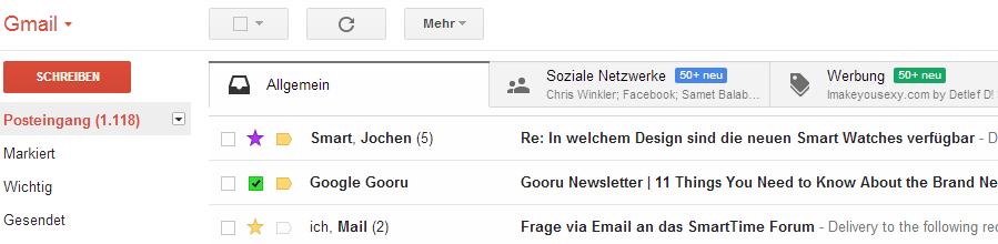 Gmail Mailorganisation