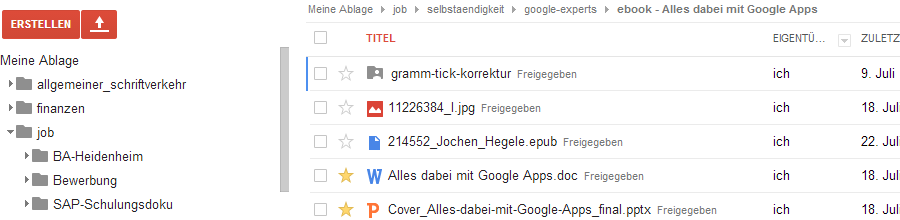 Google Drive Dokumentenmanagement