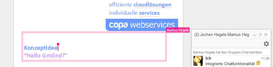 Zusammenarbeit mit Google Docs